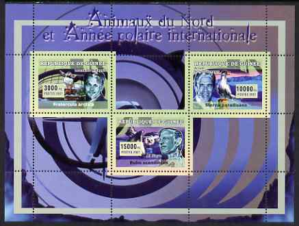 Guinea - Conakry 2007 International Polar Year & Animals perf sheetlet #2 containing 3 values unmounted mint Yv 2969-71