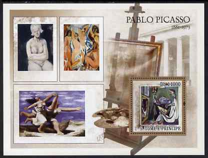 St Thomas & Prince Islands 2007 Paintings by Picasso perf deluxe s/sheet containing 1 value unmounted mint