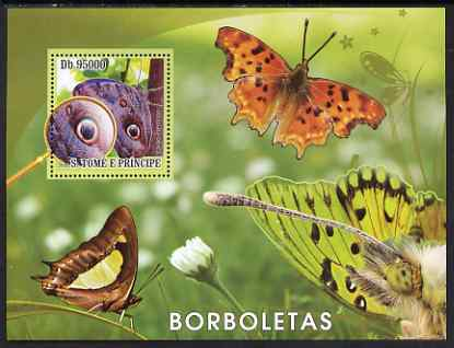 St Thomas & Prince Islands 2008 Butterflies perf s/sheet containing 1 value unmounted mint