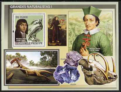 St Thomas & Prince Islands 2008 Famous Naturalists #1 perf s/sheet containing 1 value unmounted mint