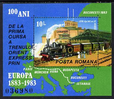 Rumania 1983 Europa (Orient Express & Map) unmounted mint, Mi BL 198