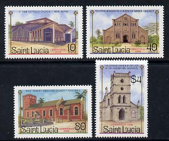 St Lucia 1986 Christmas (Churches) set of 4 (SG 919-22) unmounted mint