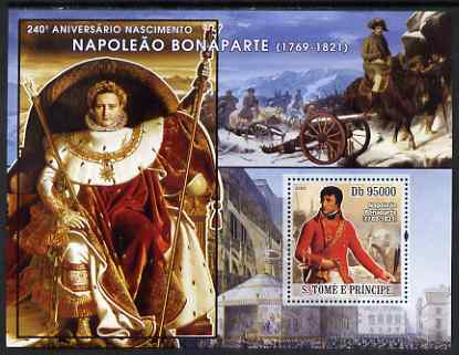 St Thomas & Prince Islands 2008 Napoleon Bonaparte perf s/sheet containing 1 value unmounted mint