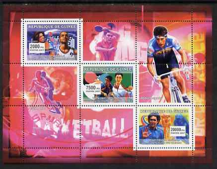 Guinea - Conakry 2007 Sports #01 perf sheetlet containing 3 values unmounted mint Yv 2867-69