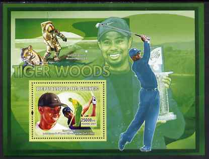 Guinea - Conakry 2007 Sports - Tiger Woods Golf perf souvenir sheet unmounted mint Yv 463