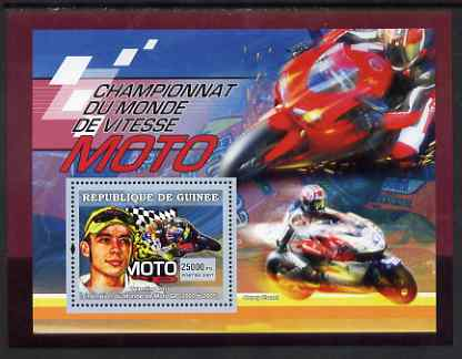 Guinea - Conakry 2007 Sports - Motorcycling perf souvenir sheet unmounted mint Yv 464