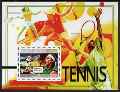 Guinea - Conakry 2007 Sports - Tennis perf souvenir sheet unmounted mint Yv 459