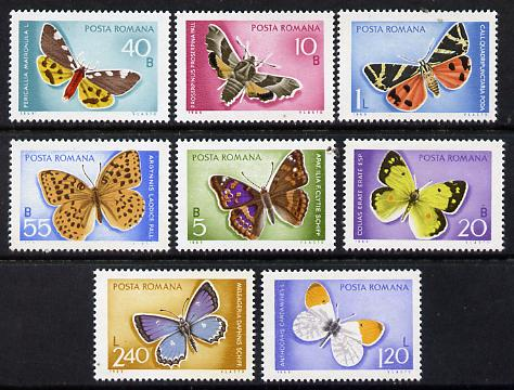 Rumania 1969 Butterflies set of 8 unmounted mint, SG 3649-56, Mi 2771-78*