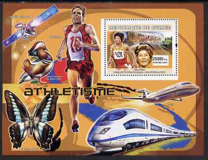 Guinea - Conakry 2007 Sports - Running perf souvenir sheet unmounted mint Yv 485