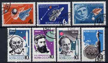 Russia 1964 The Way To The Stars perf set of 7 fine cto used, SG 2979-85