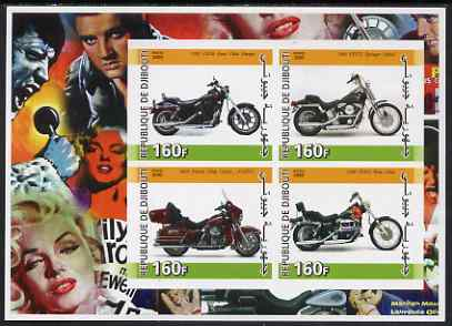 Djibouti 2005 Harley Davidson Motorcycles imperf sheetlet containing 4 values unmounted mint