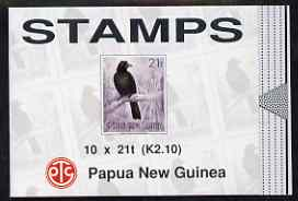 Booklet - Papua New Guinea 1993 Birds of Paradise 2k 10 booklet, complete and pristine, SG SB6