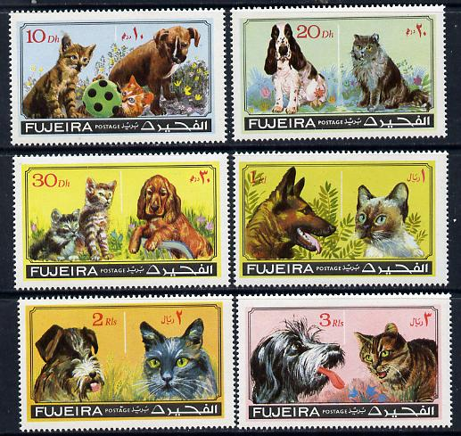 Fujeira 1971 Cats & Dogs set of 6 unmounted mint (Mi 798-803A)