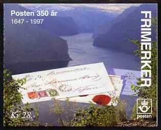 Booklet - Norway 1995 350th Anniversary of Postal Service booklet complete and pristine, SG SB96