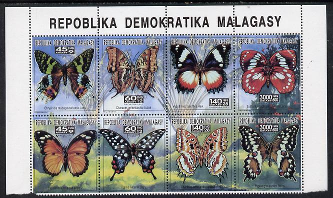 Madagascar 1993 Butterflies complete set of 8 values (from Butterflies & Birds set) unmounted mint between SG 1044-59