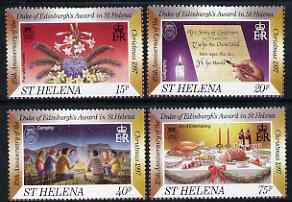 St Helena 1997 Christmas, 25th Anniversary of Duke of Edinburgh's Award in St Helena set of 4 unmounted mint, SG753-56