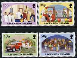 Ascension 1998 Christmas set of 4 unmounted mint, SG 756-59