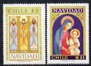 Chile 1978 Christmas set of 2 unmounted mint, SG 810-11