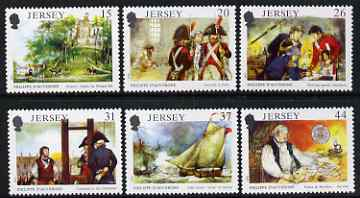 Jersey 1991 175th Death Anniversary of Philippe D'Auvergne set of 6 unmounted mint, SG 539-44