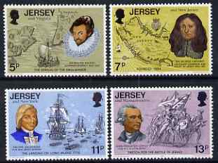 Jersey 1976 Bicentenary of American Independence set of 4 unmounted mint, SG 160-63