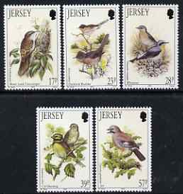 Jersey 1993 Summer Birds set of 5 unmounted mint, SG 635-39
