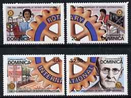 Dominica 1980 75th Anniversary of Rotary International set of 4 unmounted mint, SG 701-704