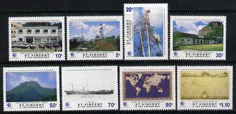 St Vincent 1997 125th Anniversary of Telecommunications in St Vincent set of 8 unmounted mint, SG 3631-38