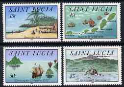 St Lucia 1992 Discovery of St Lucia set of 4 unmounted mint, SG 1077-80