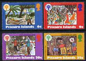 Pitcairn Islands 1979 International Year of the Child set of 4 Christmas Paintings unmounted mint, SG 200-203