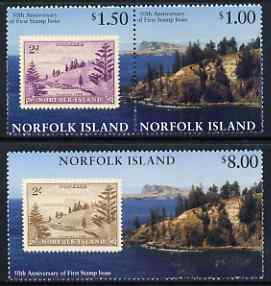 Norfolk Island 1997 50th Anniversary of Norfolk Island Stamps set of 3 unmounted mint, SG 644-46