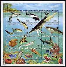 Niger Republic 1998 Sea Life Composite sheet containing complete set of 12 values