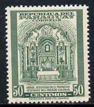 Paraguay 1946 Jesuit Relics of Colonial Paraguay 50c from Colours Changed Pictorial set, unmounted mint SG 645