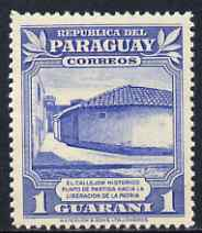 Paraguay 1946 Meeting place of Independence Conspirators 1g from Colours Changed Pictorial set, unmounted mint SG 646