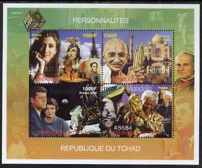 Chad 2008 Personalities perf sheetlet containing 4 values unmounted mint. Note this item is privately produced and is offered purely on its thematic appeal.