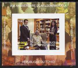 Chad 2008 Nelson Mandela 90th Birthday imperf individual deluxe sheet #3 unmounted mint