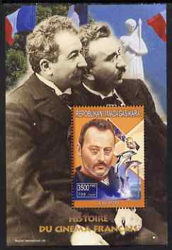 Madagascar 1999 French Cinema Stars perf m/sheet #5 showing Jean Reno unmounted mint. Note this item is privately produced and is offered purely on its thematic appeal