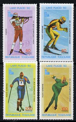 Togo 1980 Lake Placid Winter Olympics perf set of 4 values (SG 1418-21) unmounted mint*