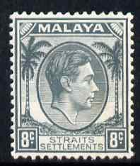 Malaya - Straits Settlements 1937-41 KG6 8c grey superb unmounted mint SG 283