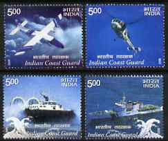 India 2008 Coast Guard perf set of 4 values unmounted mint