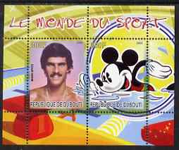 Djibouti 2008 Disney & World of Sport - Swimming & Mark Spitz perf sheetlet containing 2 values unmounted mint