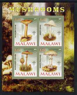 Malawi 2008 Fungi #2 imperf sheetlet containing 4 values, each with Scout logo unmounted mint
