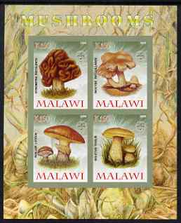 Malawi 2008 Fungi #3 imperf sheetlet containing 4 values, each with Scout logo unmounted mint