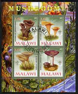 Malawi 2008 Fungi #4 perf sheetlet containing 4 values, each with Scout logo fine cto used