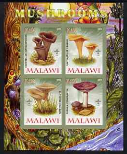 Malawi 2008 Fungi #4 imperf sheetlet containing 4 values, each with Scout logo unmounted mint