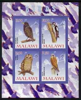 Malawi 2008 Birds #2 imperf sheetlet containing 4 values, each with Scout logo unmounted mint