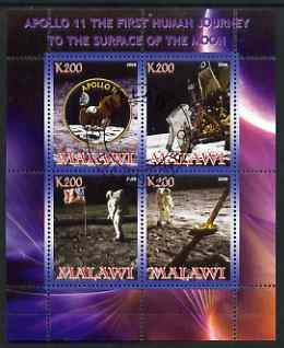 Malawi 2008 Apollo 11 - Man on the Moon perf sheetlet containing 4 values fine cto used