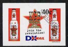 New Zealand 1999 DX Mail 40c KGB Vodka imperf opt