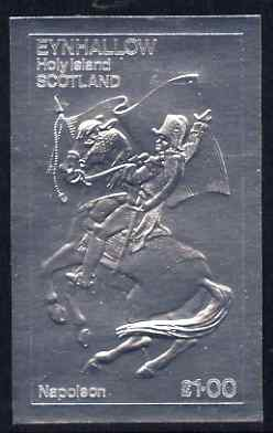 Eynhallow 1979 Napoleon on Horseback \A31 value embossed in silver (imperf) unmounted mint