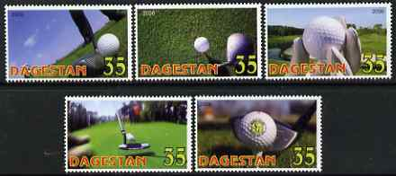 Dagestan Republic 2006 Golf perf set of 5 unmounted mint