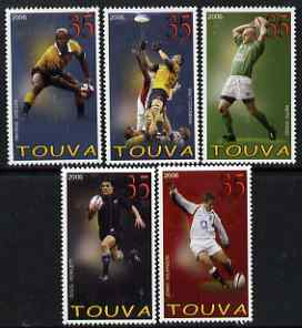 Touva 2006 Rugby perf set of 5 unmounted mint